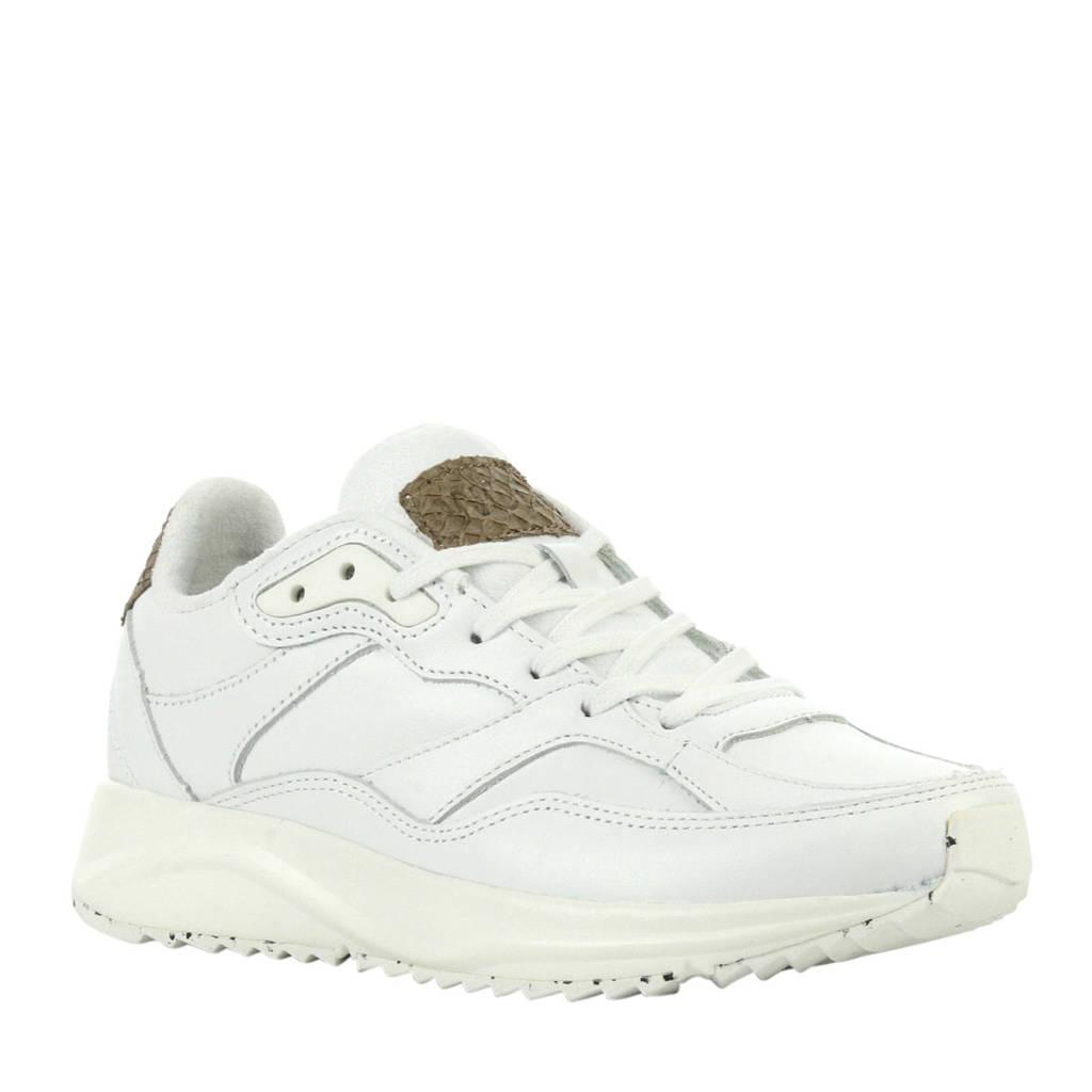 Woden  Sophie leren sneakers wit, Wit
