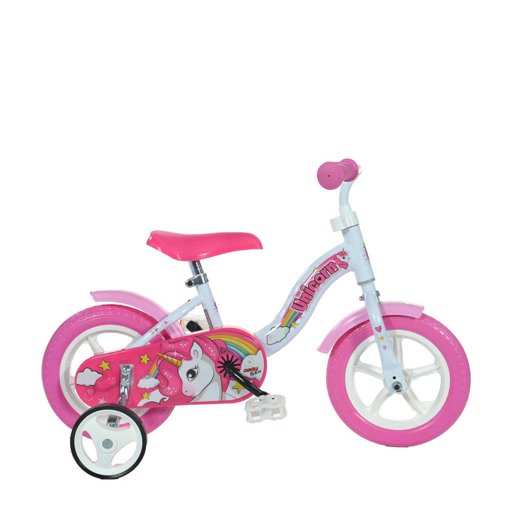 Dino Bikes  Eenhoorn 10 inch (108L-UN), Roze