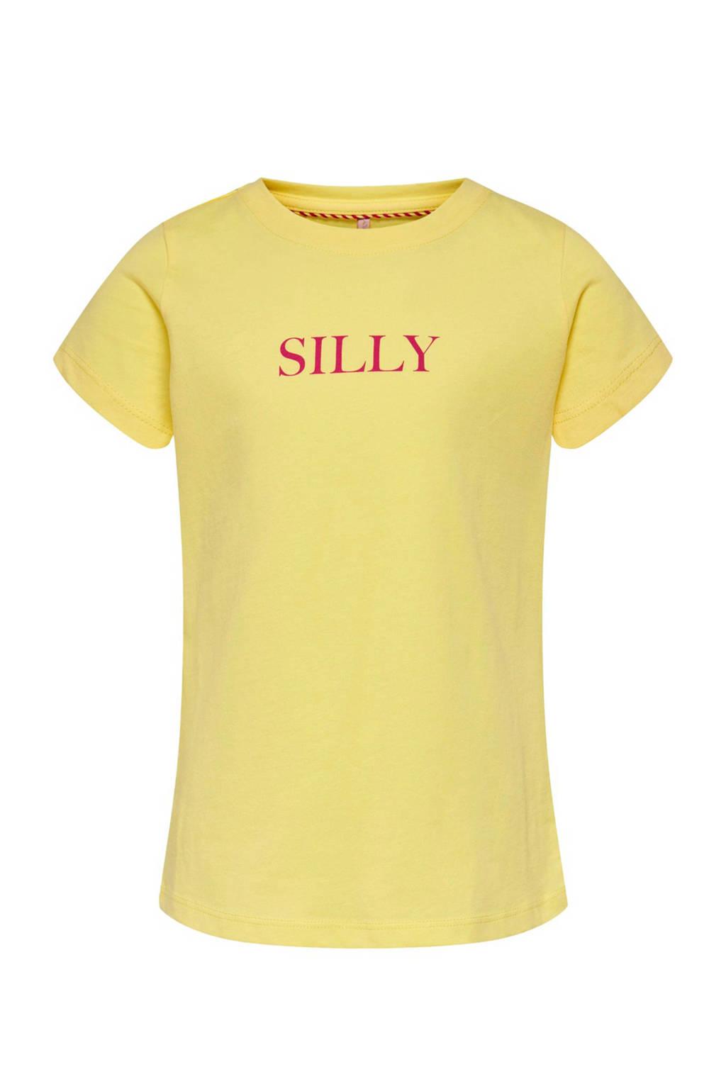 KIDS ONLY T-shirt Moods geel, Geel