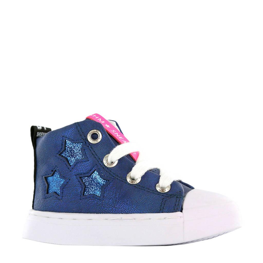 Shoesme SH9S038-A leren sneakers blauw, Blauw