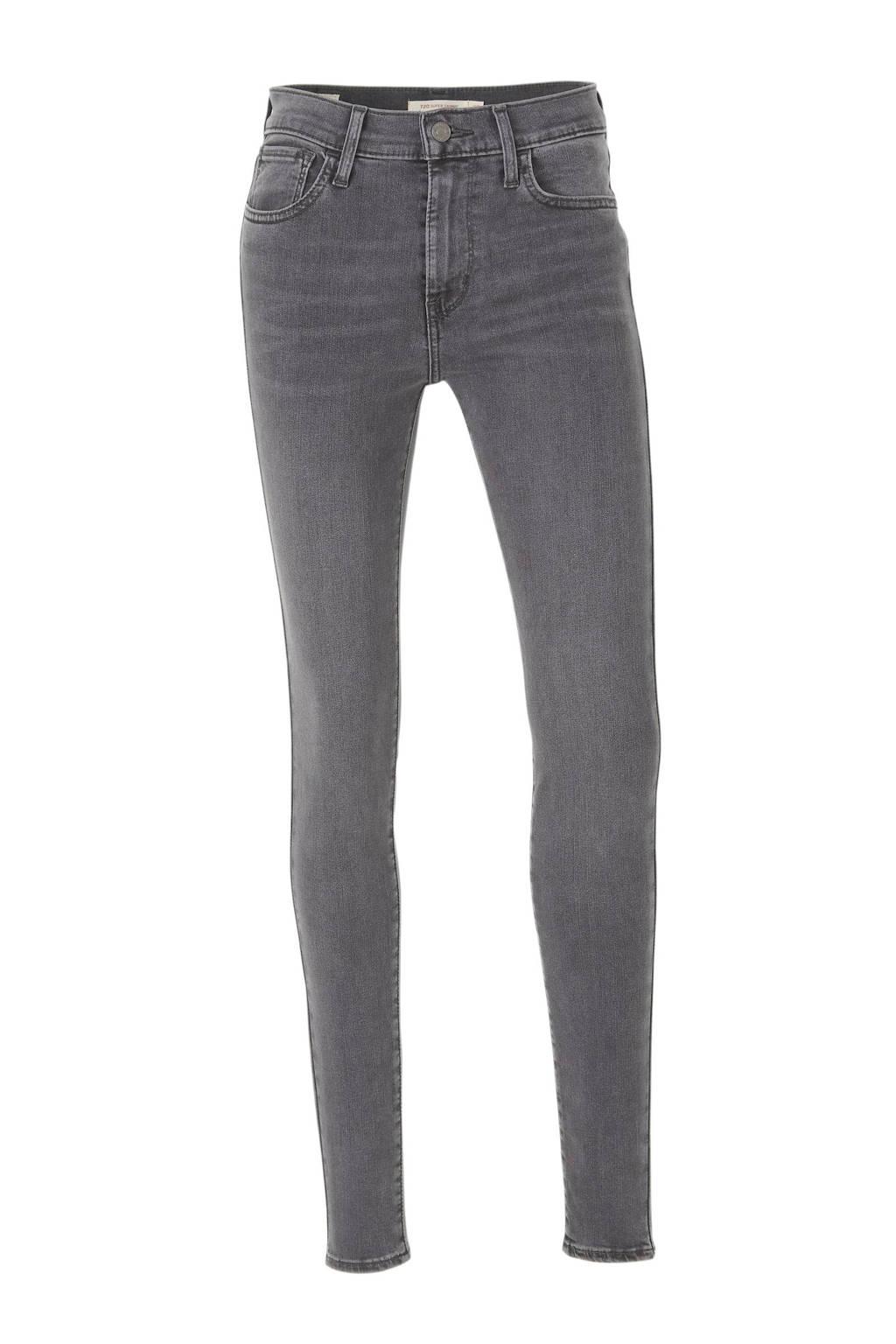 Levi's 720 HIRISE SUPER SKINNY high waist skinny jeans, Donkergrijs