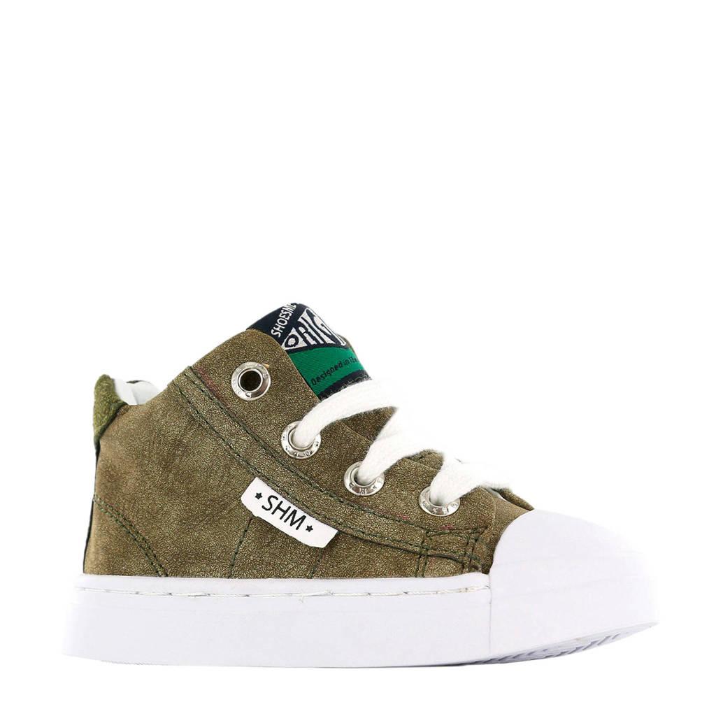 Shoesme SH9S028-D SH9S028-D leren sneakers kaki, Kaki