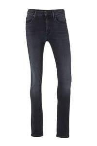 REPLAY high waist skinny jeans Jacksy donkerblauw, Donkerblauw