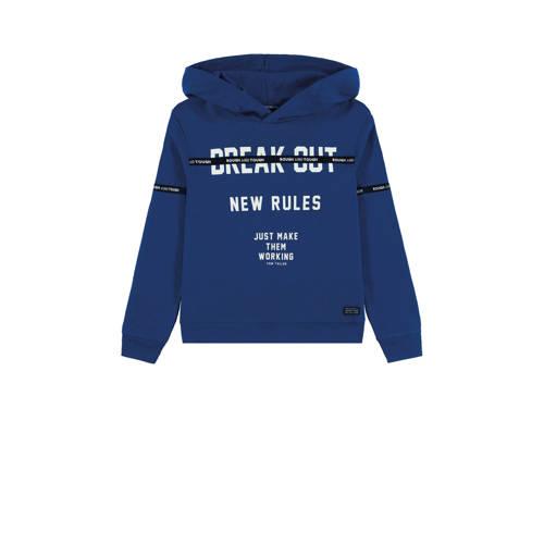 Tom Tailor hoodie met tekst donkerblauw