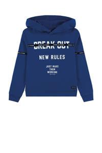 Tom Tailor hoodie met tekst donkerblauw, Donkerblauw