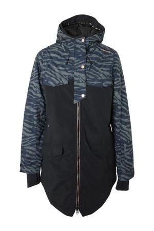 ski-jack Aucklet zwart/blauw