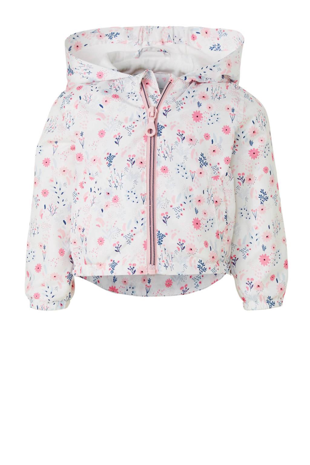C&A Baby Club gebloemde zomerjas wit, Wit/roze
