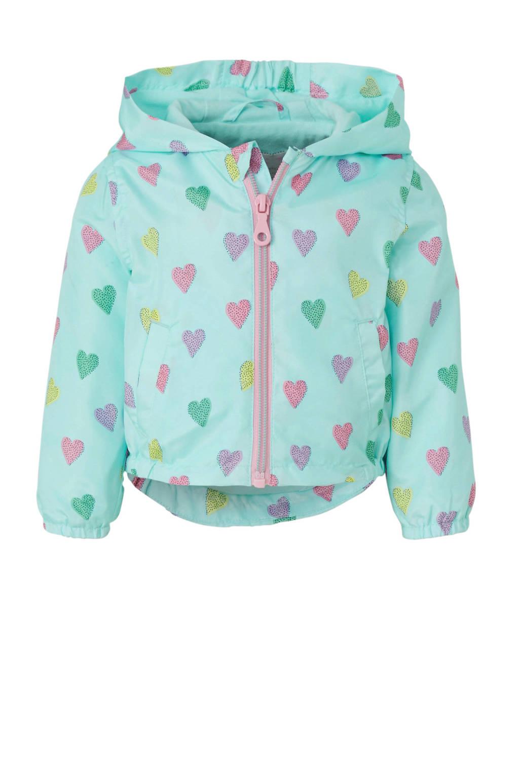 C&A Baby Club zomerjas met hartjes blauw, Lichtblauw