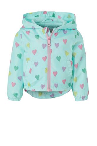Baby Club zomerjas met hartjes blauw