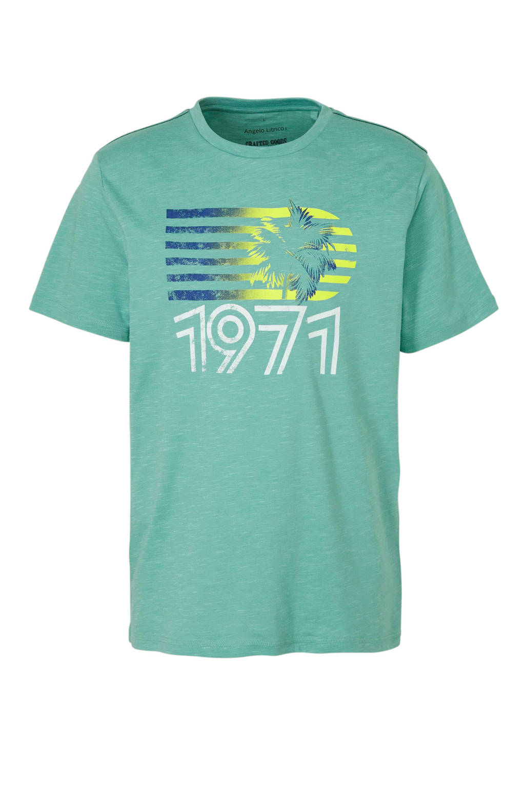 C&A Angelo Litrico T-shirt met printopdruk, Blauw