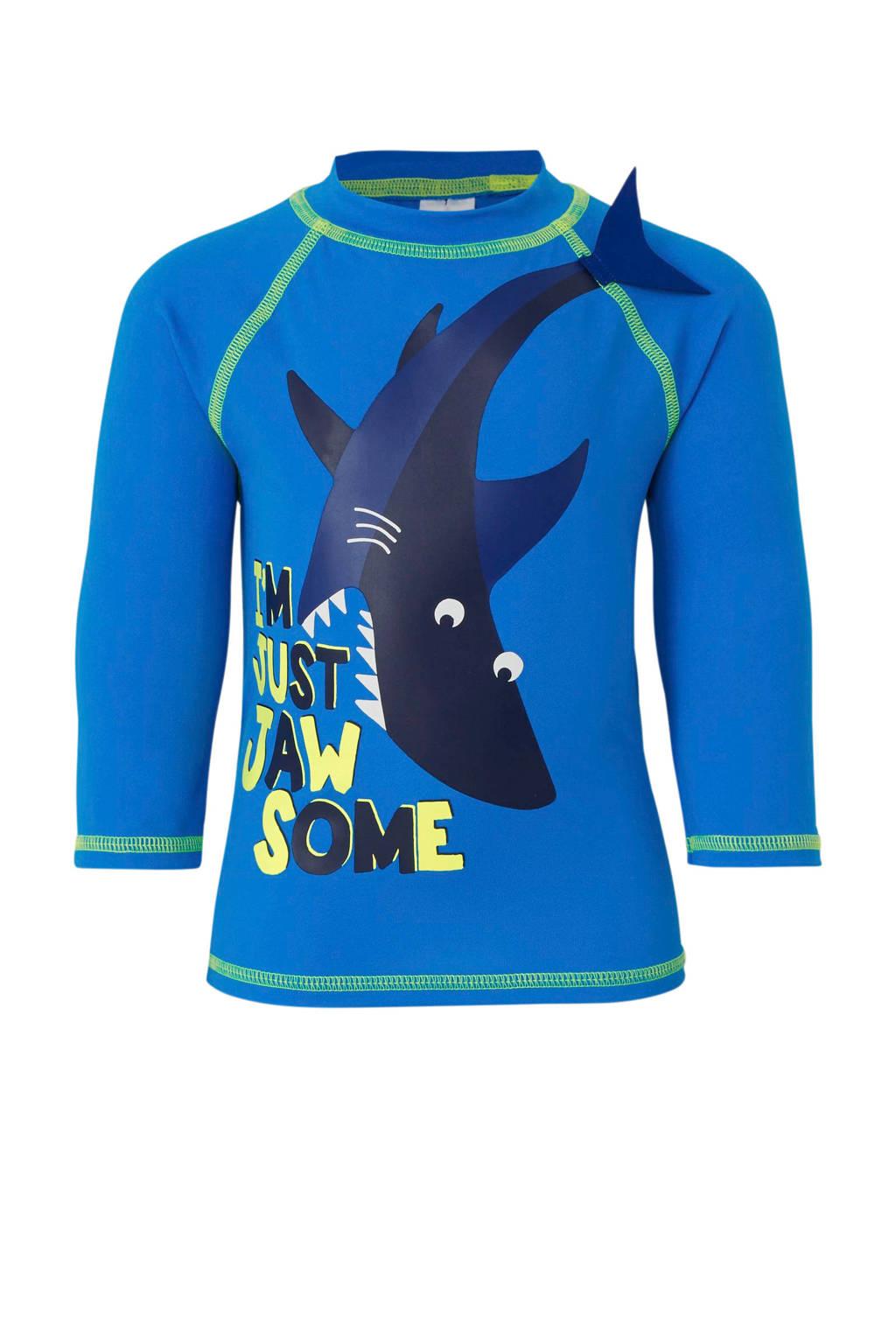 C&A Rodeo UV T-shirt met printopdruk blauw, Blauw
