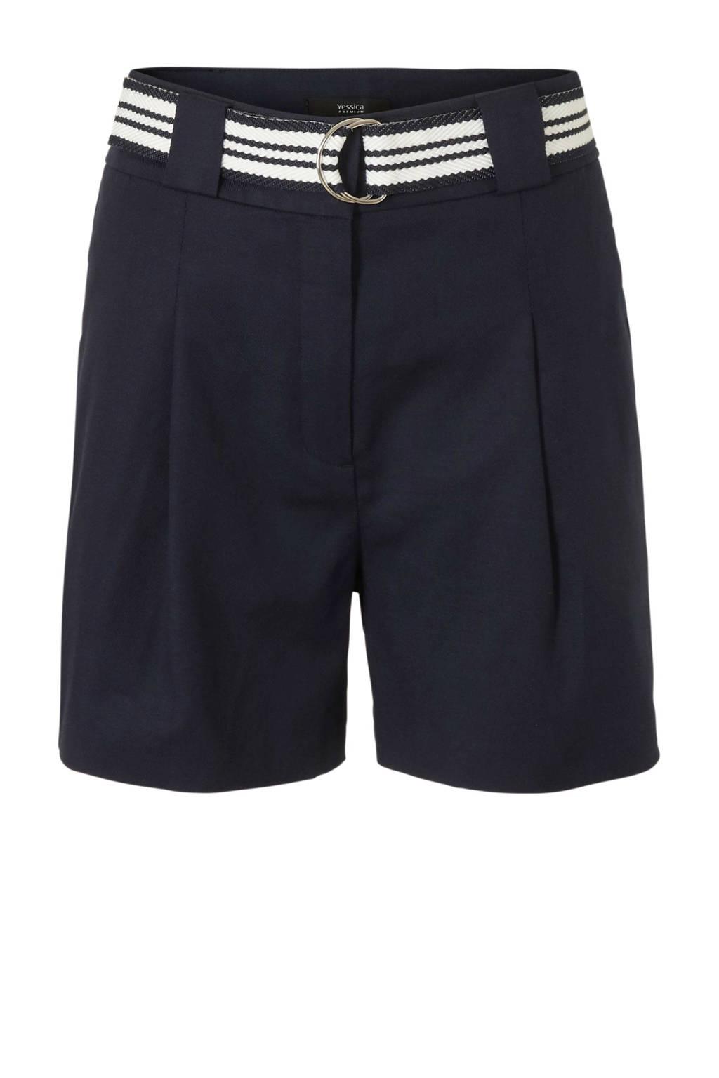 C&A high waist short marine, Donkerblauw