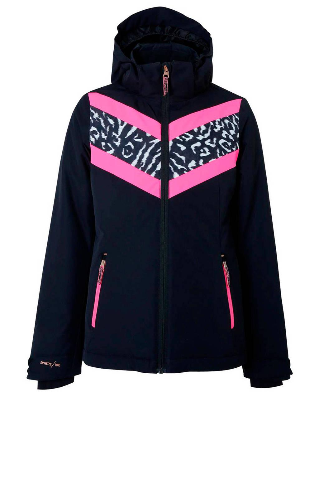 Brunotti ski-jack Pelikan zwart, Zwart/roze