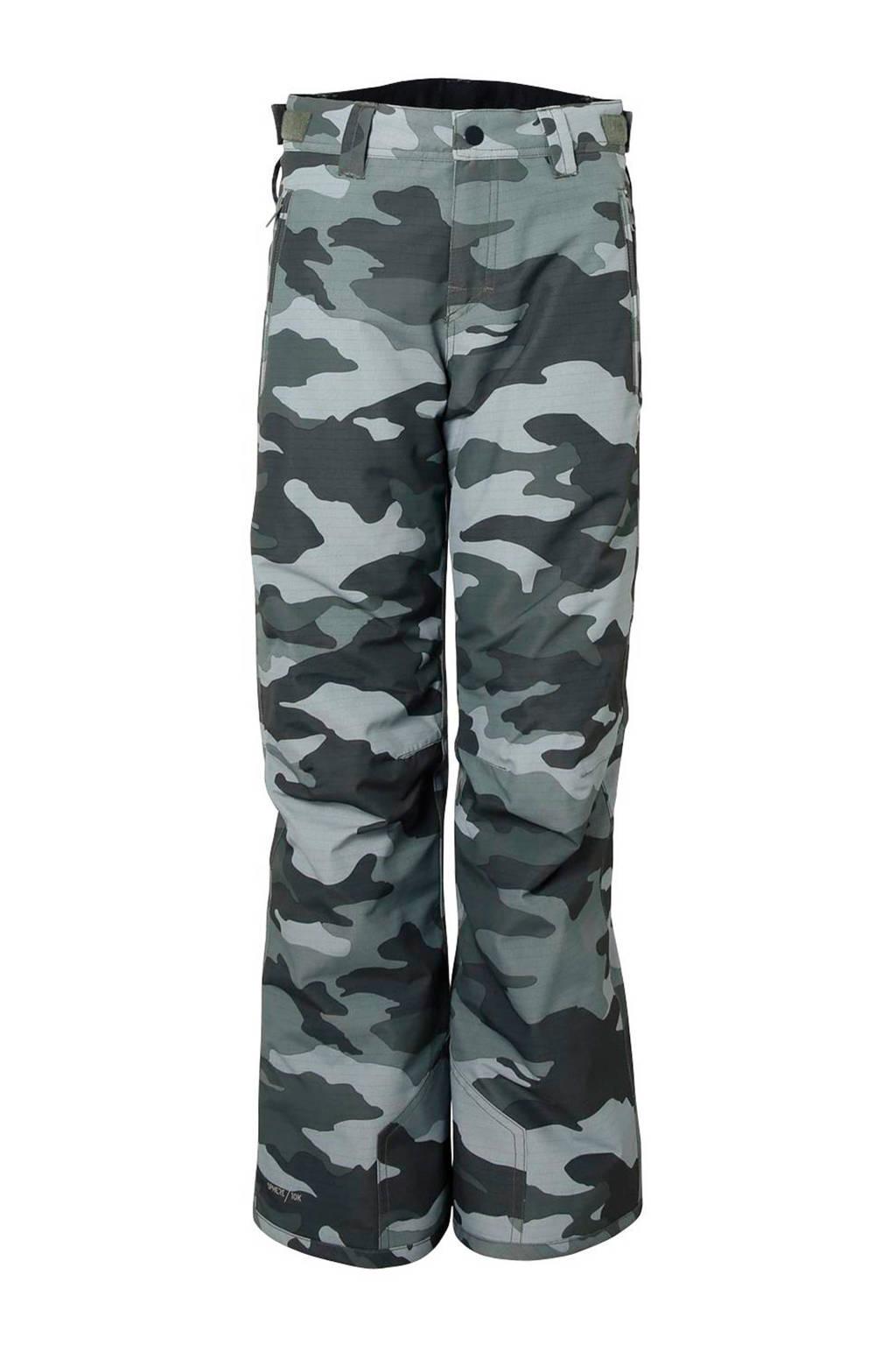 Brunotti skibroek Kitebar groen camouflage, Groen/wit/grijs