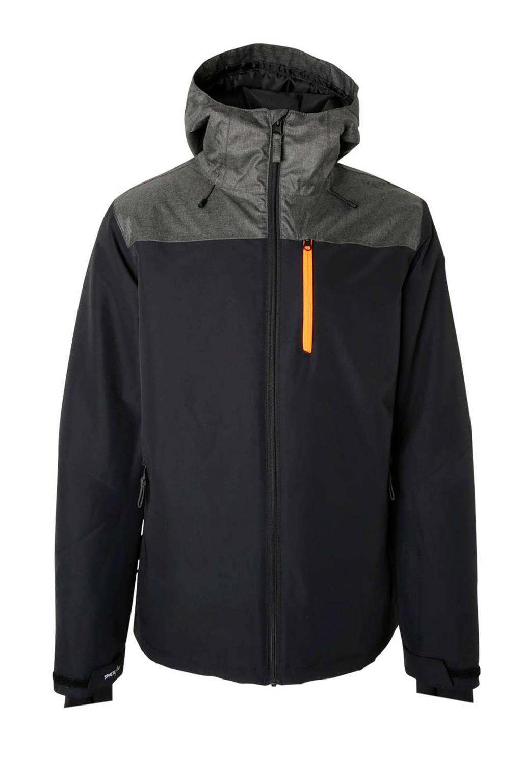 Brunotti ski-jack Gibson zwart/grijs, Zwart/grijs