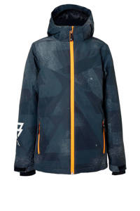 Brunotti ski-jack Pander zwart, Zwart/grijs
