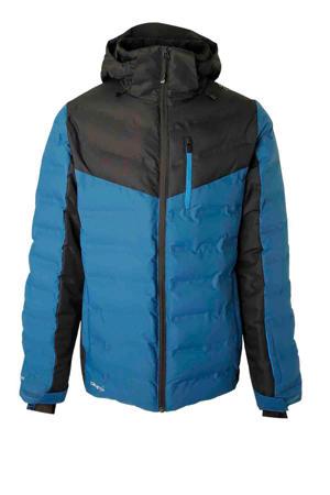 ski-jack Sergas blauw/zwart