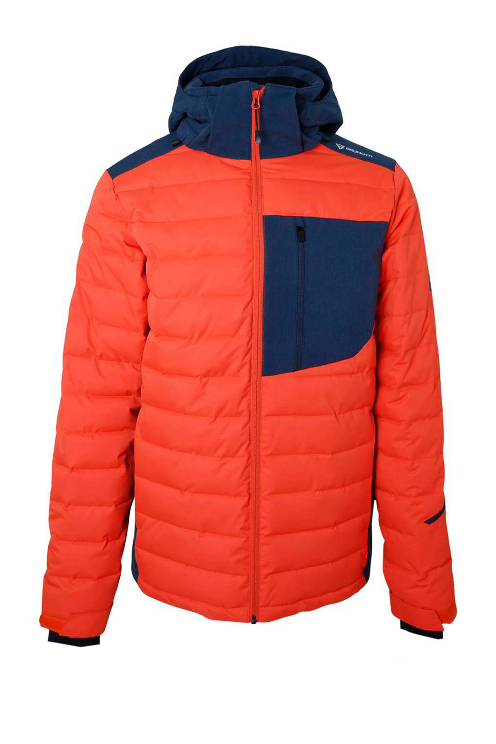 Brunotti ski-jack Trysail rood, Rood/donkerblauw