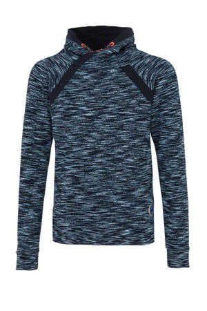 hoodie blauw melange