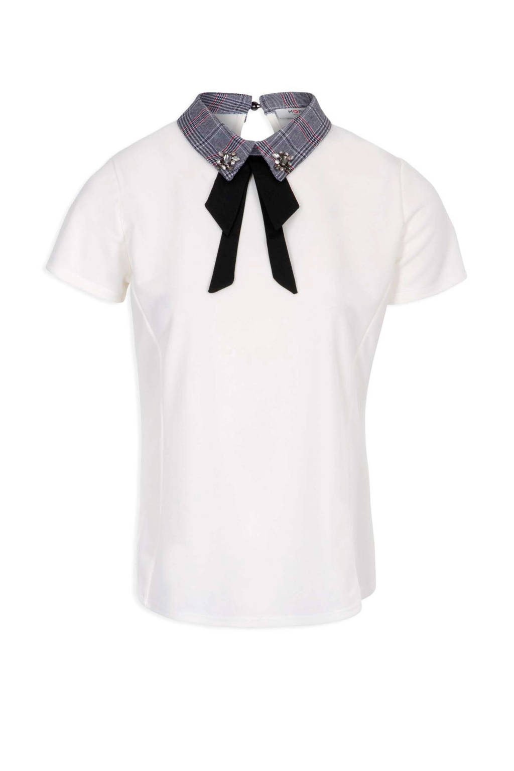Morgan T-shirt met kraag ecru, Ecru
