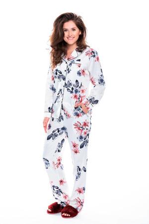 Deluxe gebloemde pyjama wit
