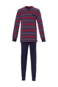 Pastunette for men pyjama marine/rood, Marine/rood
