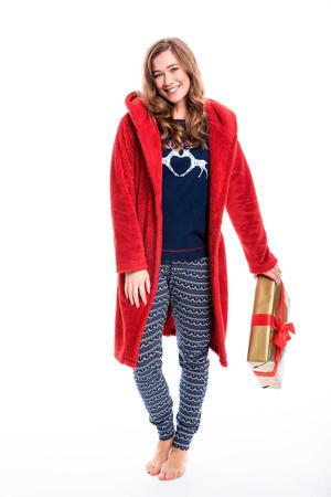 pyjama met kerst print marine