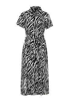 maxi blousejurk Dalia met zebra print
