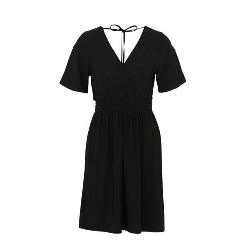 SisterS Point jurk met overslag zwart