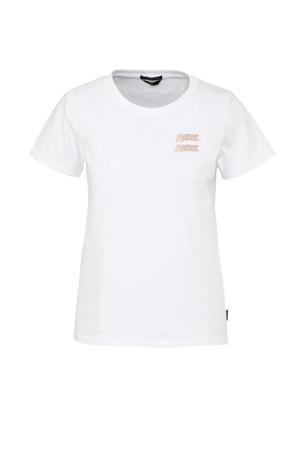 T-shirt Rebel met tekst wit