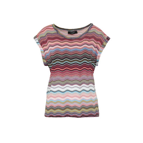 SisterS Point top met all over print roze multi