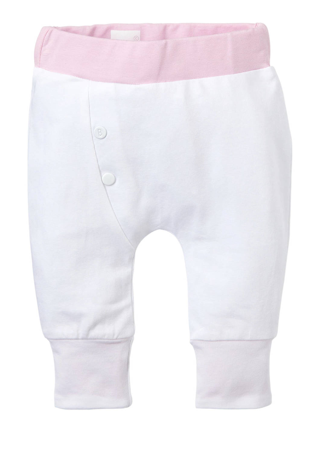 born to be famous. newborn baby broek, Wit/ roze