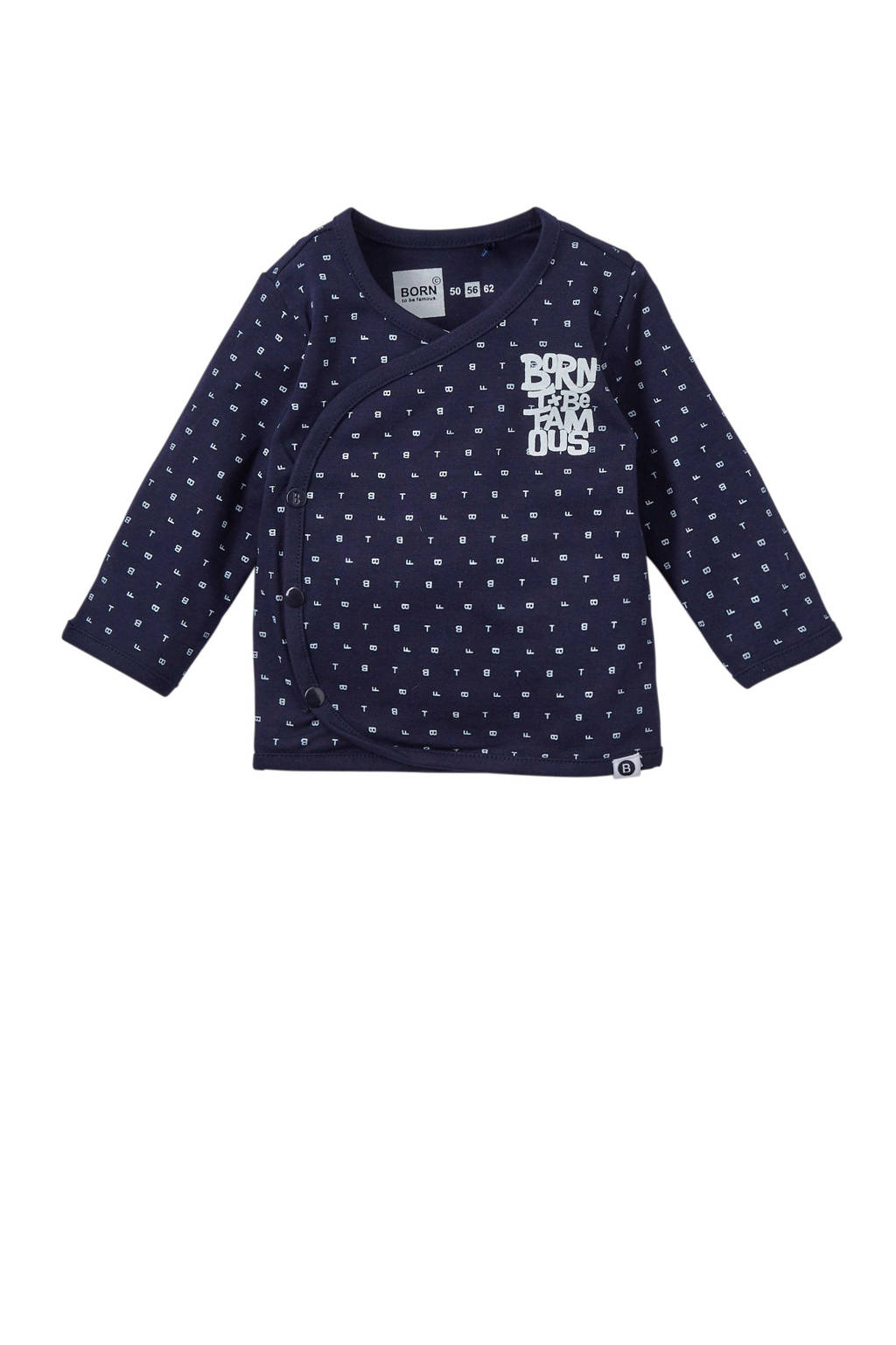 born to be famous. newborn baby longsleeve, Marine