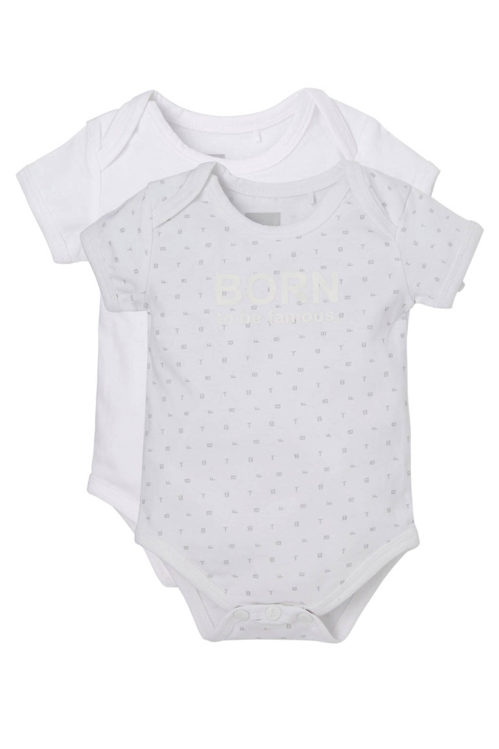 born to be famous. newborn baby romper, Wit