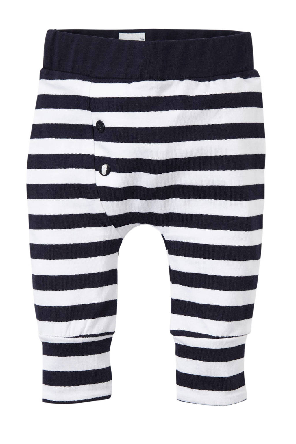 born to be famous. newborn baby broek, Marine/wit
