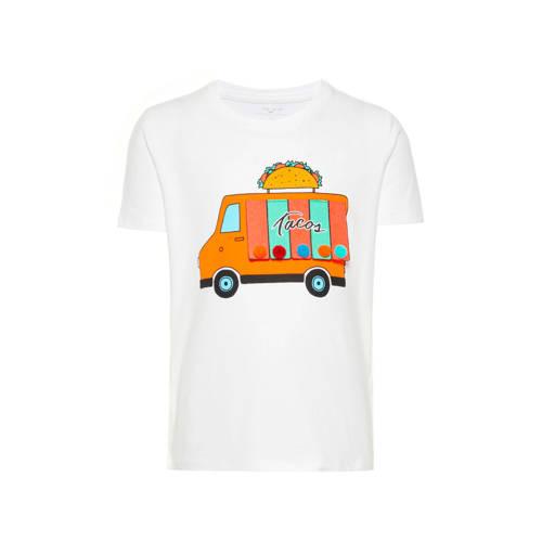 name it MINI T-shirt met printopdruk en 3D applica