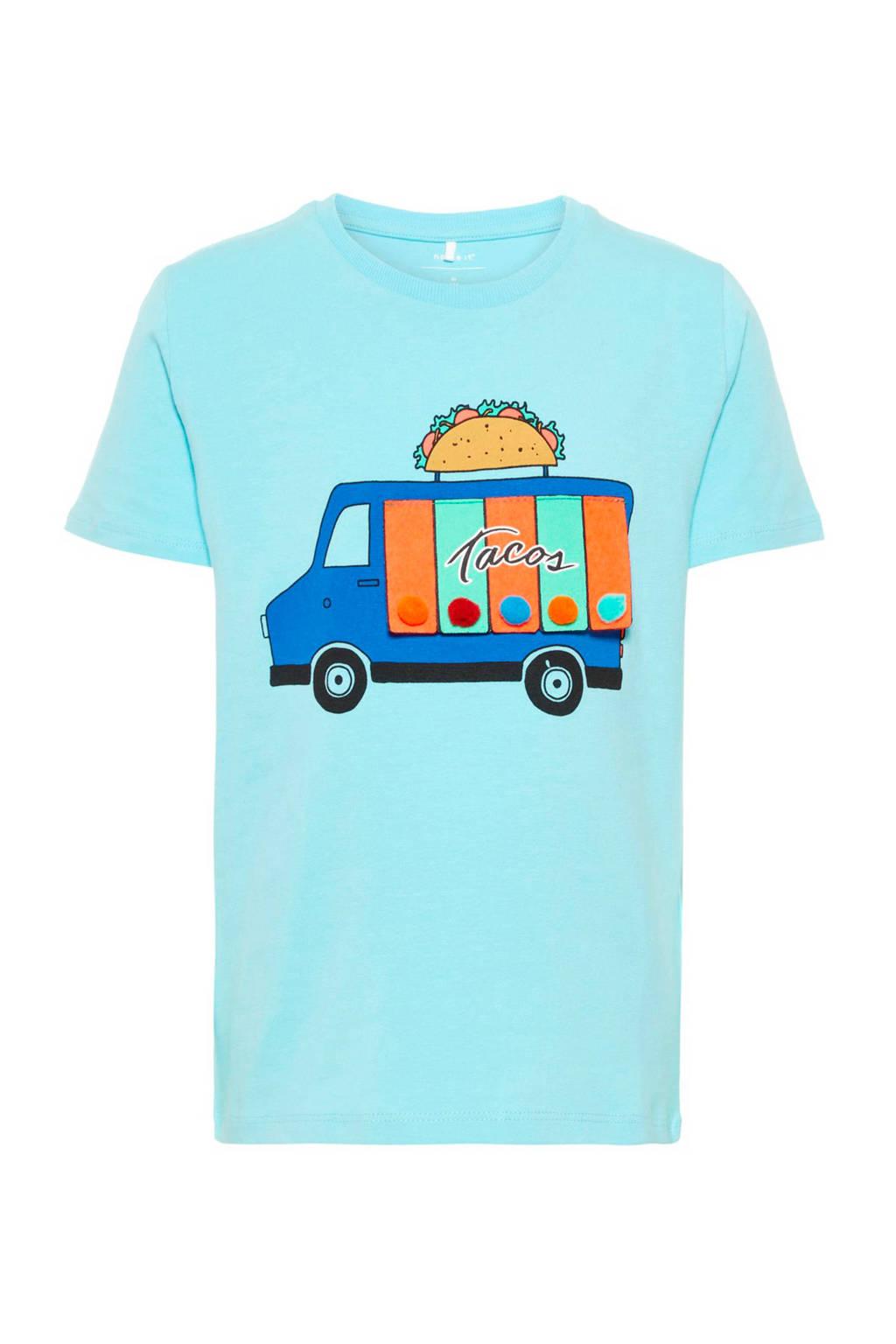name it MINI T-shirt Harridan lichtblauw, Lichtblauw