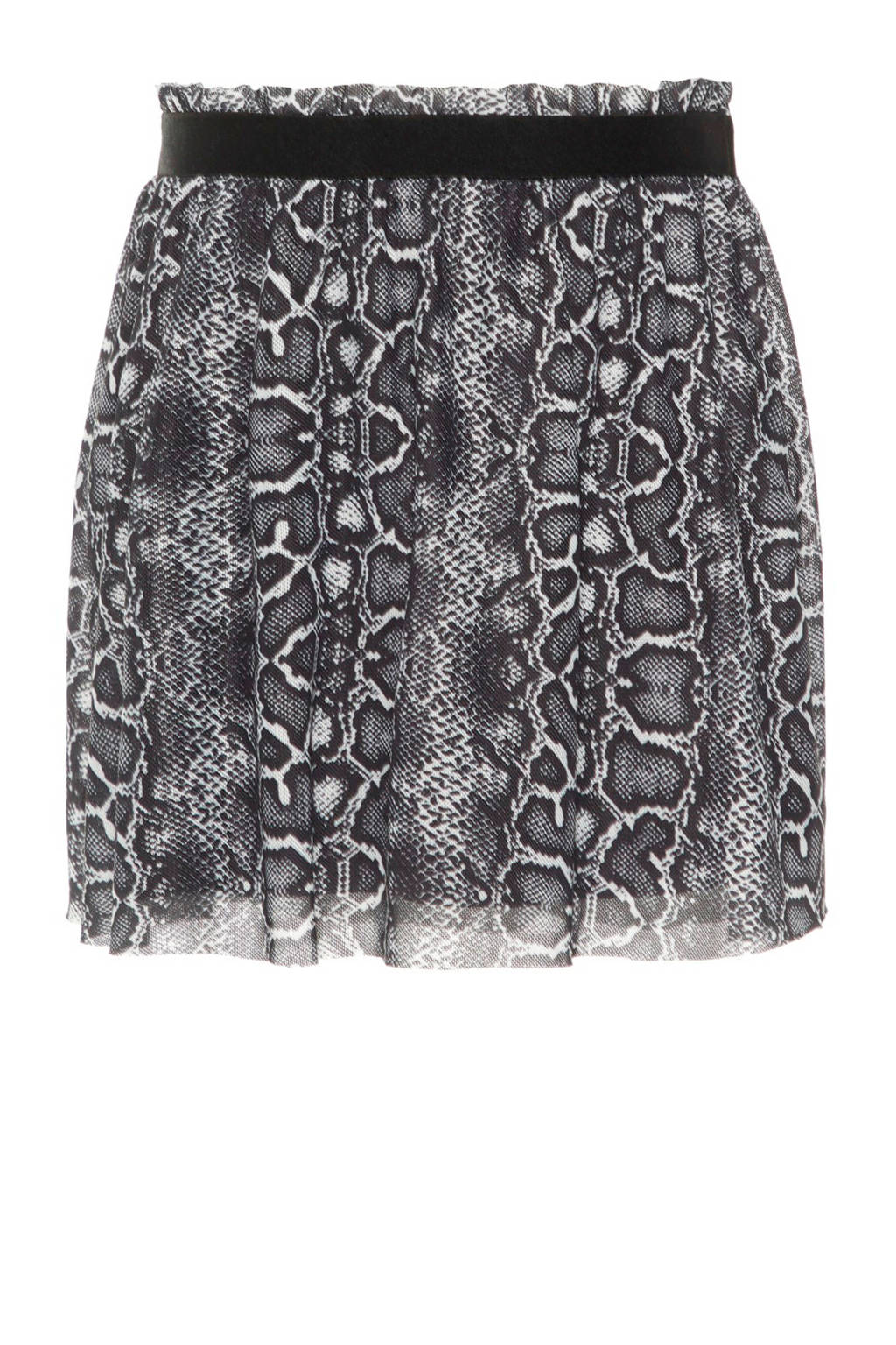 name it MINI rok met slangenprint zwart, 95% polyester/ 5% elastaan