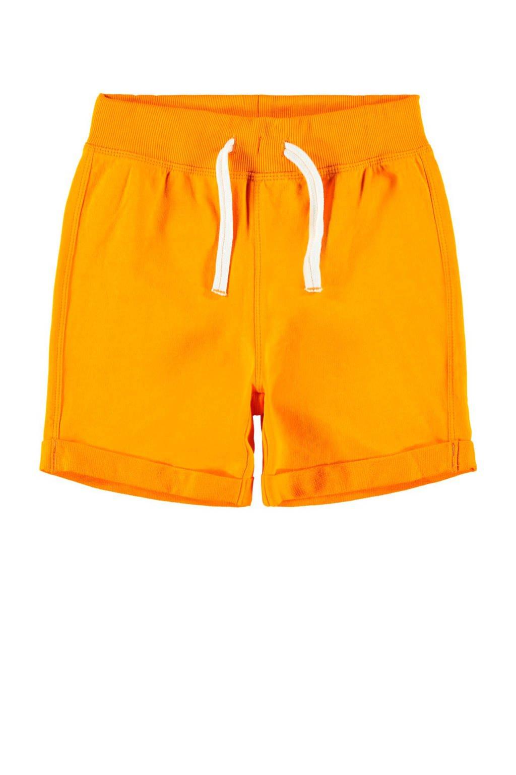 name it sweatshort Paw oranje, Oranje