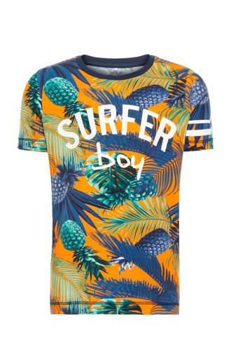 MINI T-shirt Jukka met korte mouwen oranje