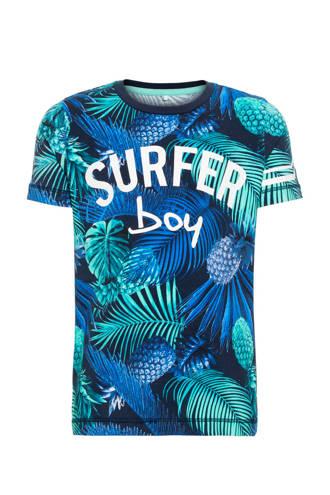 MINI T-shirt Jukka met korte mouwen blauw