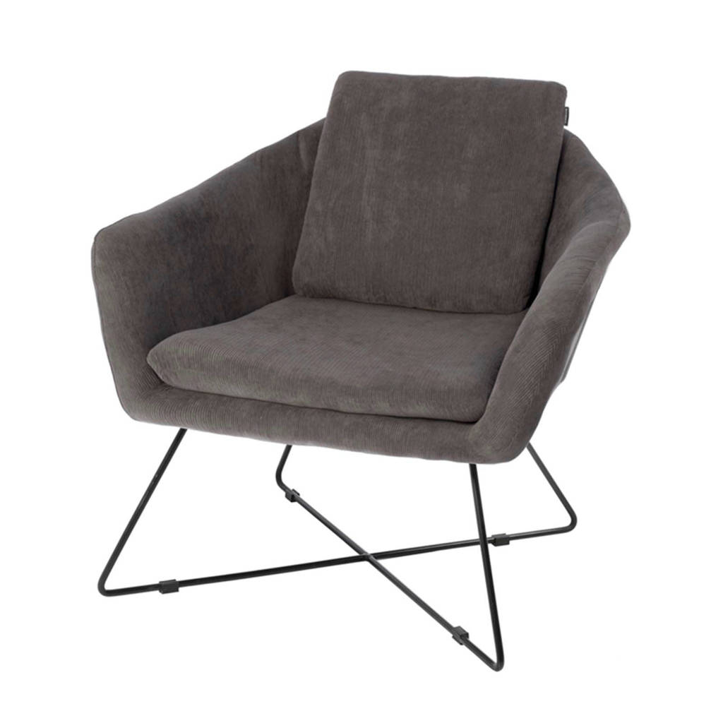 Riverdale fauteuil Ridge ribstof, Antraciet