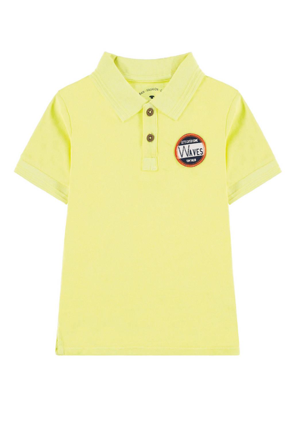 Tom Tailor polo met patch geel, Geel