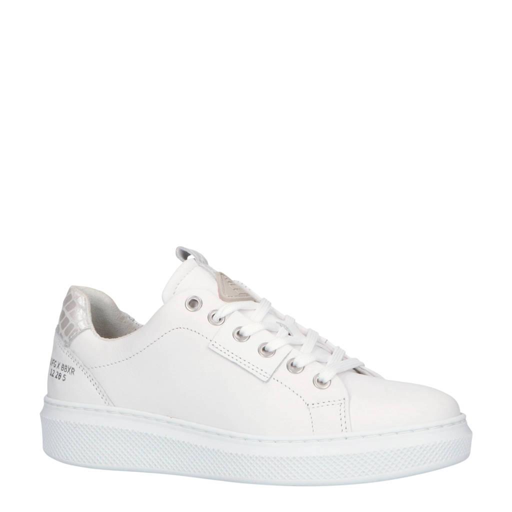 bullboxer  807006E5L leren sneakers wit/zilver, Wit/zilver