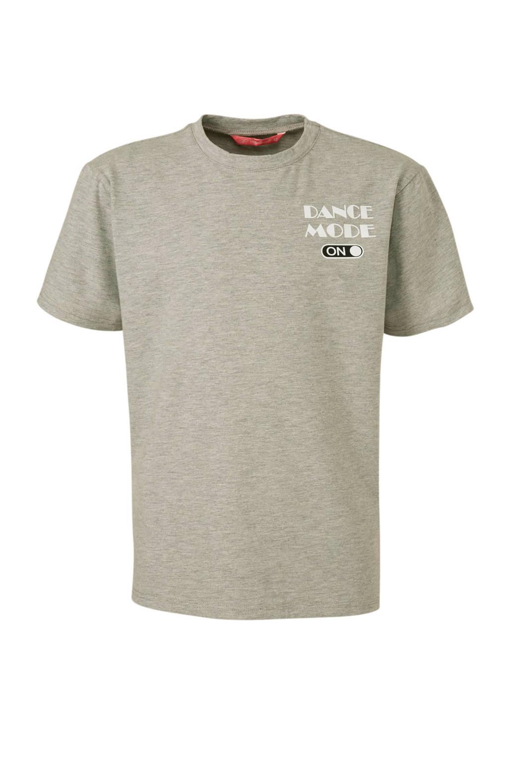Papillon sport T-shirt grijs, Grijs melange