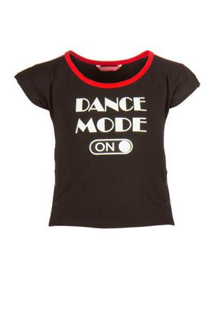 sport T-shirt zwart/rood/wit