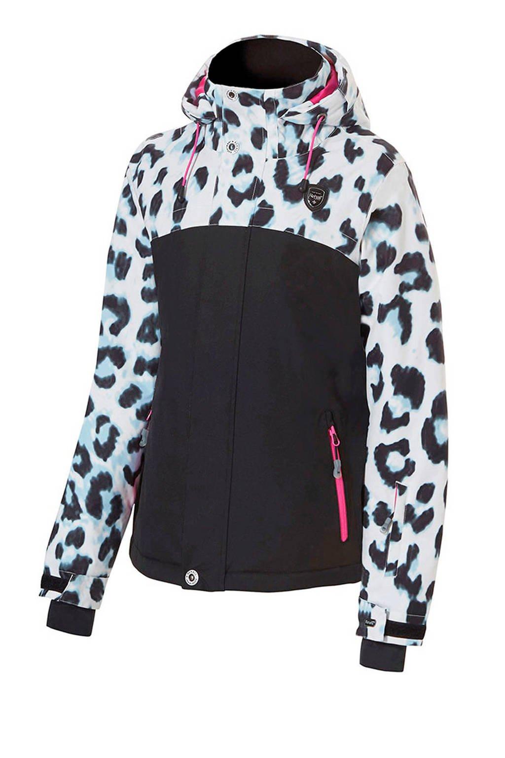 Rehall ski-jack Maggy-R zwart/wit, Zwart/wit