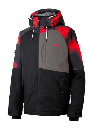 ski-jack zwart/rood