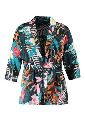 gebloemde kimono groen