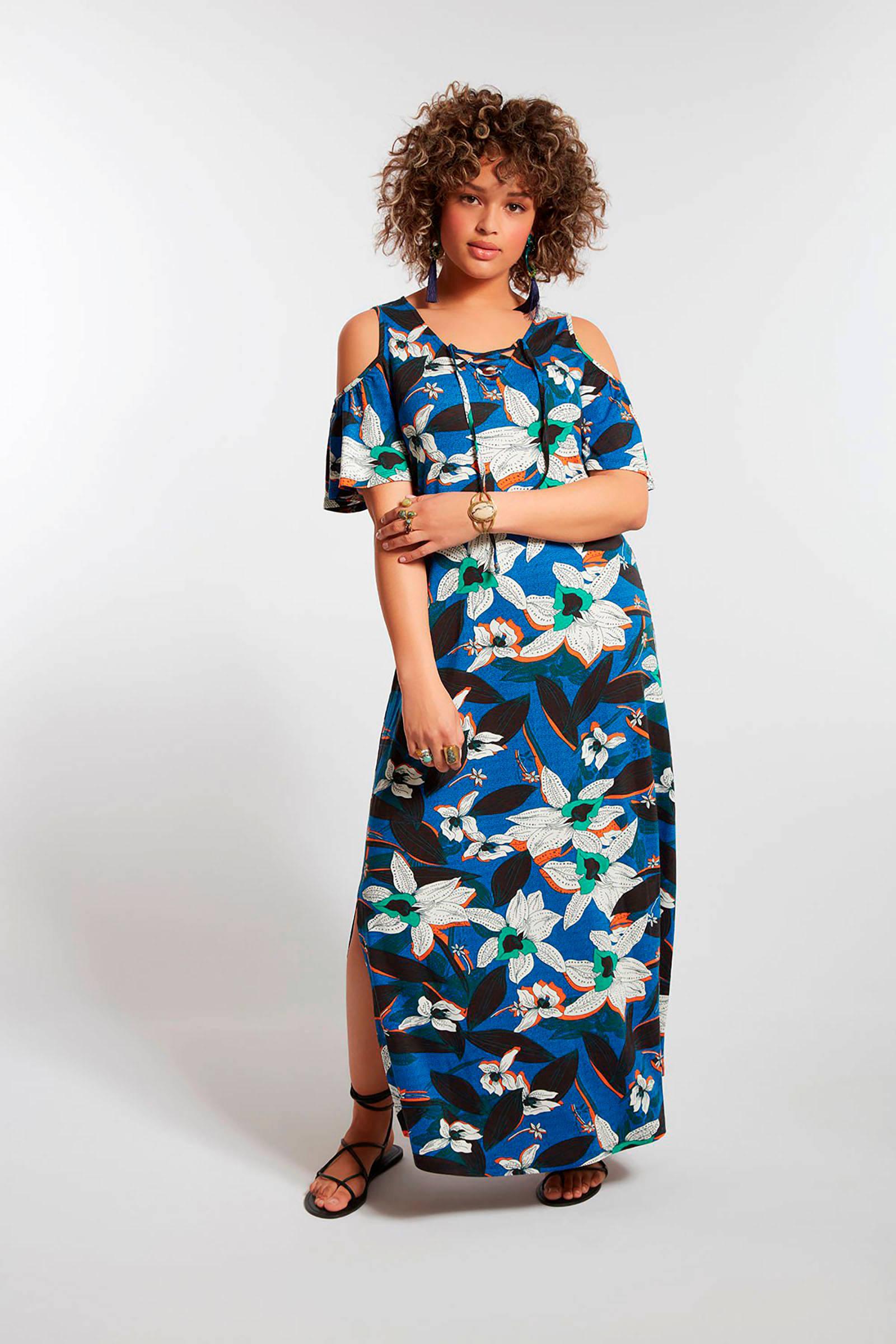 9fa6f8a4ddf37e MS Mode gebloemde maxi jurk